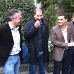 Philippe Couve, Johan Hufnagel (Slate.fr), Loïc de la Mornais (France 2) et Régis Confavreux (OWNI)