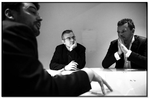Sylvain Lapoix, Philippe Couve et Benoît Raphaël
