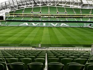 Sous les gradins de l'Aviva Stadium de Dublin, les salles de conférences qui accueillent la conférence MoJoCon2016.